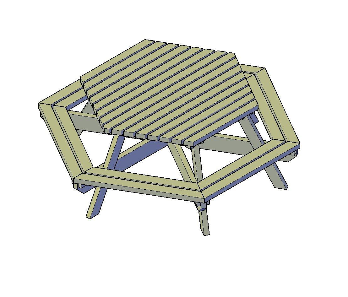 picknick-Tisch Sechseck