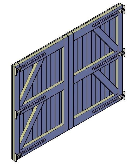 Holztor bauen
