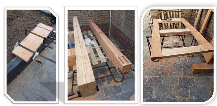 Rahmen für Holztor machen