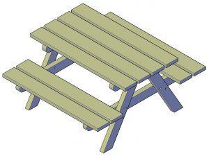 Outdoor Picknicktisch selber bauen
