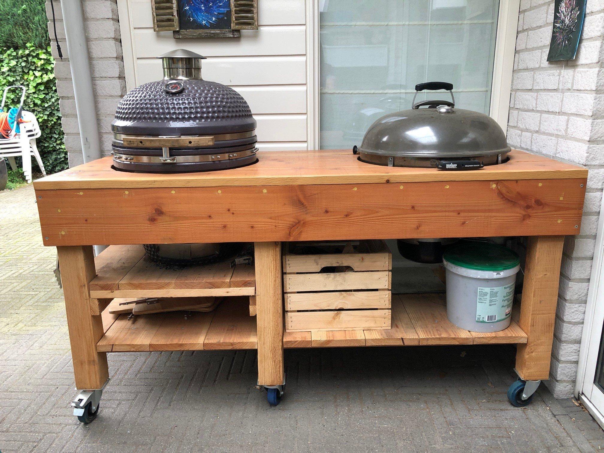 outdoor küche holz