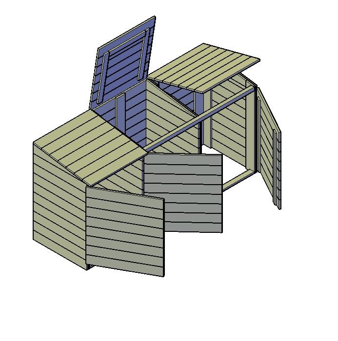 müllbox holz selber bauen