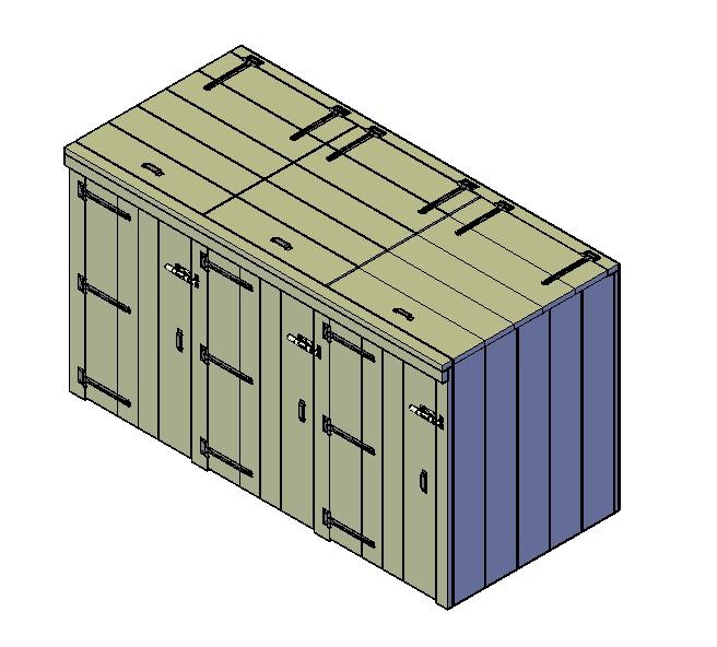 mülltonnenbox 3er selber bauen