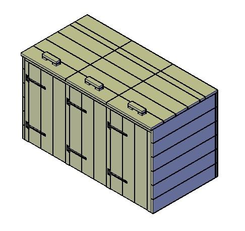 mülltonnenbox für 3 tonnen