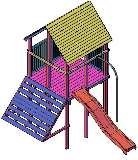 Bauzeichnung für Spielgeräte